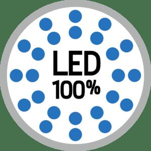 Camping-car avec éclairage 100% Led